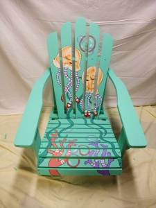 2013 Whimsical Under The Sea  Adirondack chair