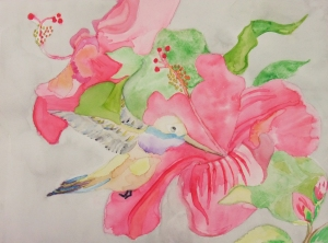 My students rock! Beautiful hummingbird.