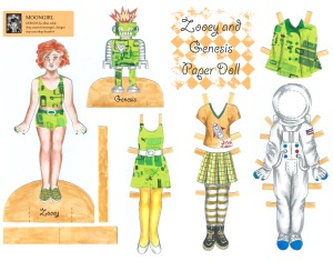 Zooey and Genesis Paper Doll Set