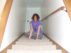 My 10 year reunion is coming up next year, and the clothes I used to wear are officially beginning to look silly. Short sleeved turtleneck sweaters for the win! And always striped tights, because The Dresden Dolls (would still rock those!)