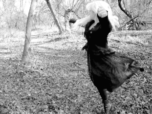 Quite literally, frolicking in the woods. I knew these poses wood come in handy for something one day ...