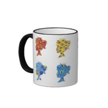 Pop Art Princess Ringer Mug