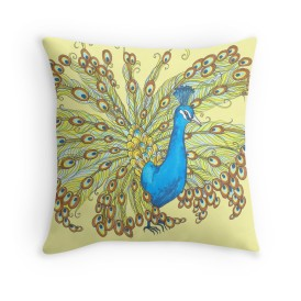 Peacock Decorative Pillow