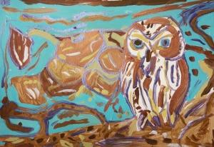 Metallic Acrylic Owl