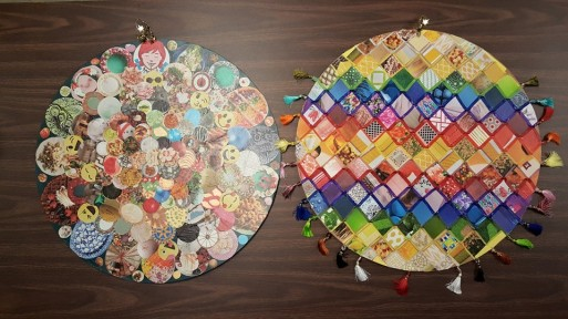 Cool collage mandalas