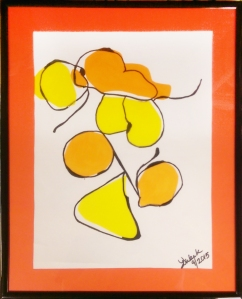 Abstract Wall Art by Lori : Modern art using Sharpie pens and cutouts from transparent file folders