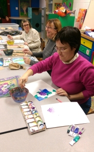 "There are quite a few ""regulars"" each semester in the watercolor class, so we have become like a group of old friends."