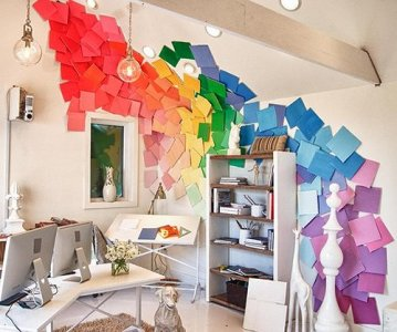 rainbowdiywalldecorationspaintsamplesrainbowthemedwalldecorations