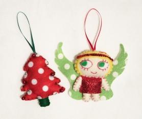 ornament pair redgreen