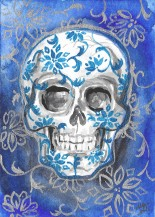 blue china skull smeb