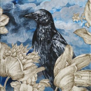 8x10 painting raven